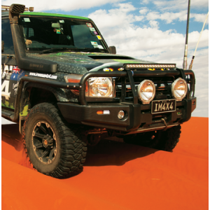 Landcruiser 76 Series compatible Premium Side Step & Rails