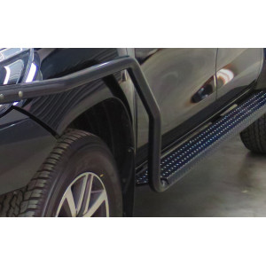 Fortuner 2015+ compatible Steel Side Steps & Rails