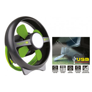 Rechargeable Tent Fan with LED Light